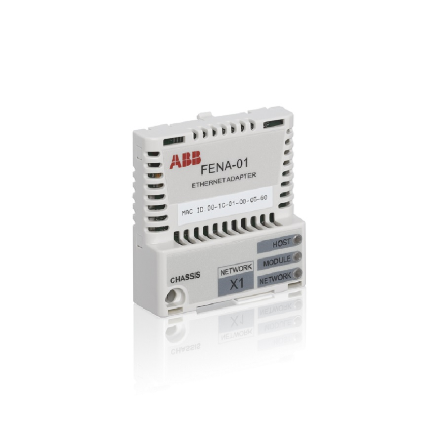FENA-01-KIT ABB ETHERNET MODULE (SINGLE PORT), EIP, MODBUS TCP & PROFINET FOR ACS355 DRIVES